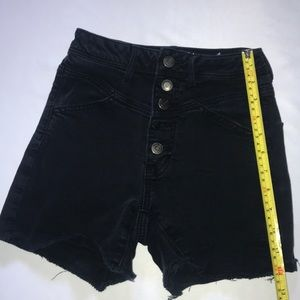 American Eagle Black Button Fly High Rise Shorts